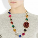 Miu Miu: Collar con multicolores cristales de plexiglás