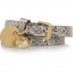 Alexander McQueen brazalete con craneo dorado 2012 1