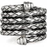 Bottega Veneta anillo bobinado de plata 2012 1