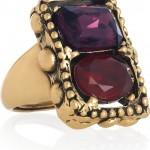 Oscar de la Renta anillo chapado en oro 24 quilates 2