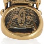 Oscar de la Renta anillo chapado en oro 24 quilates 4
