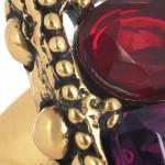 Oscar de la Renta anillo chapado en oro 24 quilates 5