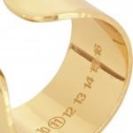 Maison Martin Margiela cuatro anillos chapados en oro 5