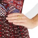 Pamela Love: Estiloso anillo chapado en Oro
