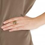 Aurélie Bidermann: Anillo chapado en oro de 18 quilates 'Demeter braided'