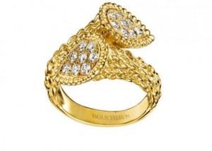 Boucheron: Anillo de lujo inspirado en la mítica serpiente de Carlomagno