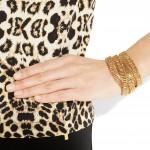 Philippe Audibert: Pulsera-Collar chapada en oro