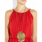 Aurélie Bidermann: Collar chapado en oro de 18 quilates 'Pachacamac'