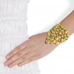 Aurélie Bidermann: Pulsera chapada en oro de 18 quilates 'Cités d'Or'