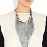 Shourouk: Collar con cristales swarovski y chapado en plata 'Dallas'