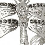 Alexander McQueen pulsera dragonfly con cristales swarovski 4