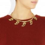 Aurélie Bidermann: Collar chapado en oro de 18 quilates 'Cuzco'