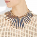 Aurélie Bidermann: Collar chapado en oro 'Arizona'