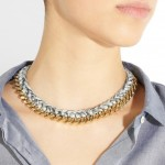 Aurélie Bidermann: Collar con cadena chapada en oro de 18 quilates 'Santa Fe'