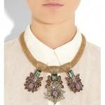 Bijoux Heart: Collar chapado en oro de 18 quilates 'Empress'