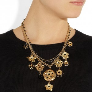 Dolce & Gabbana: Collar embellecido con cristales swarovski