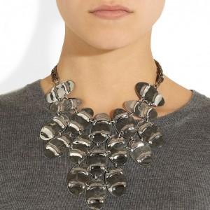 Anndra Neen: Collar plateado 'Streak Cuirass'