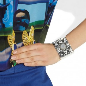 Bottega Veneta: brazalete de plata esterlina