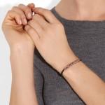 Monica Vinader: Pulsera chapada en oro rosa 'Esencia'
