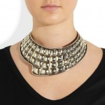 Anndra Neen: Collar plateado 'Quilted Fin'