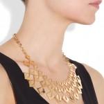 Mallarino: Collar chapado en oro 'Cleo'