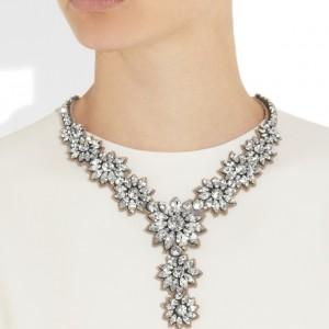 Valentino: Collar con cristales Swarovski 'Flower Stones'