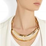 Aurélie Bidermann: Collar chapado en oro 'Cheyne Walk'