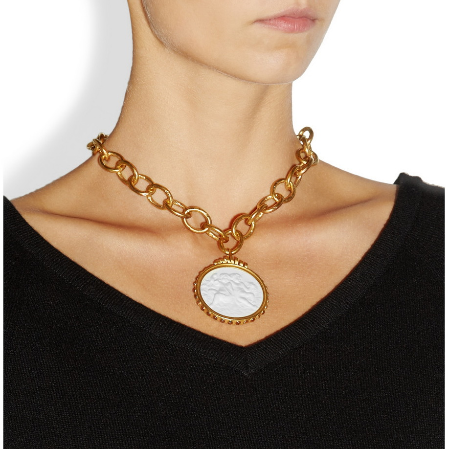 Bottega Veneta collar chapado en oro 2013 2