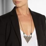 Pamela Love: Collar con colgante de bronce 'Oculus Pyramid'