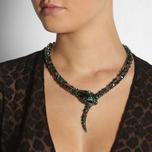 Roberto Cavalli: Collar serpiente con cristales swarovski